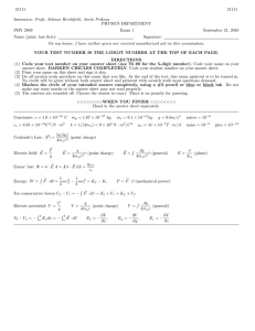 Coulomb's Law Worksheet - Methacton School District