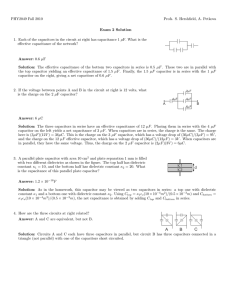 PHY2049 Fall 2010 Profs. S. Hershfield, A. Petkova Exam 2 Solution