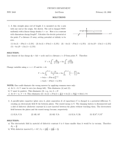 PHYSICS DEPARTMENT PHY 2049 2nd Exam February 22, 2002