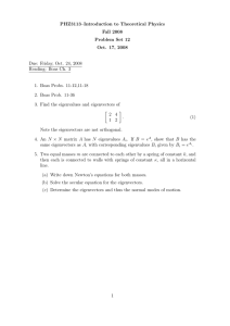 PHZ3113–Introduction to Theoretical Physics Fall 2008 Problem Set 12 Oct. 17, 2008