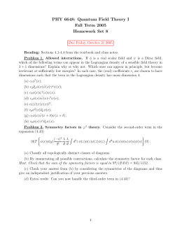 PHY 6648: Quantum Field Theory I Fall Term 2005 Homework Set 8
