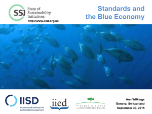 Standards and the Blue Economy