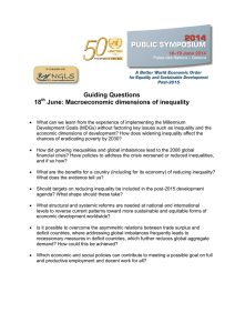 Guiding Questions 18 June: Macroeconomic dimensions of inequality