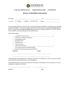Release of Disabilities Information
