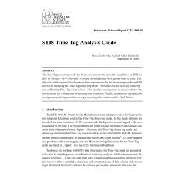 STIS Time-Tag Analysis Guide