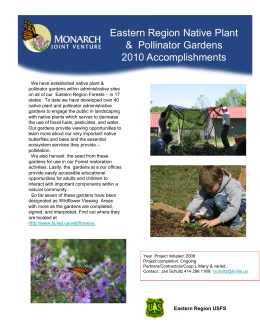 Title text here Eastern Region Native Plant &  Pollinator Gardens 2010 Accomplishments