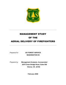 MANAGEMENT STUDY OF THE AERIAL DELIVERY OF FIREFIGHTERS