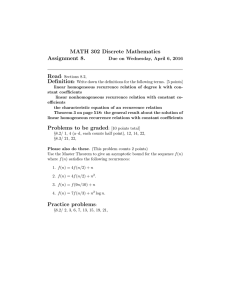 MATH 302 Discrete Mathematics Assignment 8. Read Definition