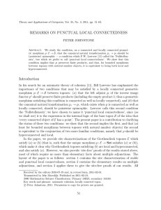 REMARKS ON PUNCTUAL LOCAL CONNECTEDNESS PETER JOHNSTONE