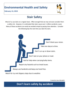 Environmental Health and Safety Stair Safety February 13, 2015