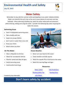 Environmental Health and Safety Water Safety July 22, 2015