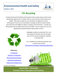 Environmental Health and Safety  CFL Recycling