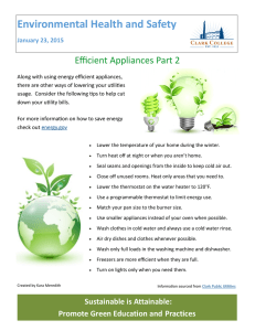 Environmental Health and Safety Efficient Appliances Part 2