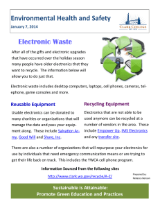 Environmental Health and Safety Electronic Waste