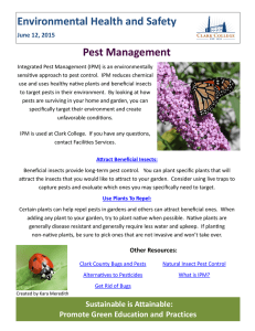 Environmental Health and Safety Pest Management June 12, 2015