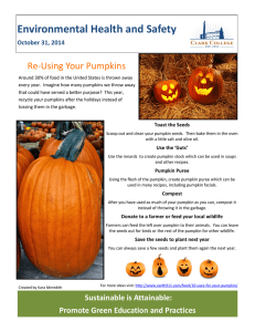 Environmental Health and Safety Re-Using Your Pumpkins October 31, 2014