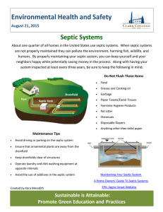 Environmental Health and Safety  Septic Systems