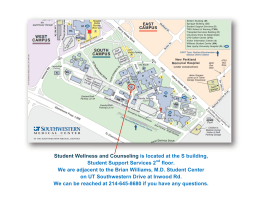 Student Wellness and Counseling is located at the S building, floor.