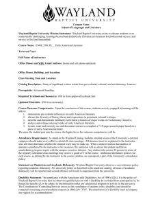 Campus Name School of Languages and Literature