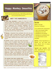 Happy Monkey Smoothie