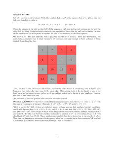 Problem B1 2001 Let in the squares of an (