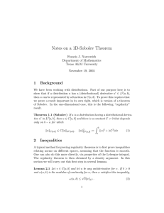 Notes on a 1D-Sobolev Theorem 1 Background Francis J. Narcowich