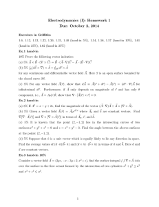Electrodynamics (I): Homework 1 Due: October 2, 2014