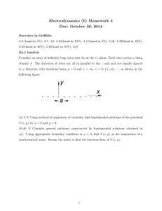 Electrodynamics (I): Homework 4 Due: October 30, 2014