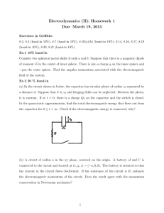 Electrodynamics (II): Homework 1 Due: March 19, 2015