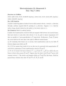 Electrodynamics (I): Homework 5 Due: May 7, 2014