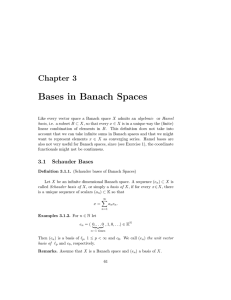 Bases in Banach Spaces Chapter 3