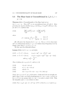 5.5 The Haar basis is Unconditional in L [0, 1], 1 < 1