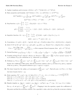 Math 308 Section-Zhou, Review for Exam 2 1. 2.