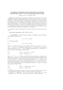 NUMERICAL METHODS FOR COMPUTING NONLINEAR EIGENPAIRS: PART II. NON ISO-HOMOGENEOUS CASES