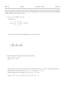 Quiz #2 Answers September 8, 2015 Math 251