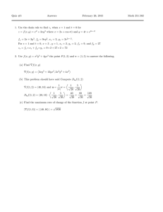 Quiz #5 Answers February 26, 2015 Math 251.502