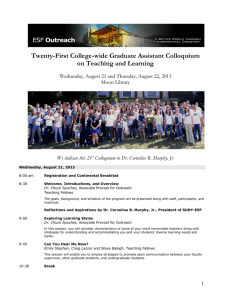 Twenty-First College-wide Graduate Assistant Colloquium on Teaching and Learning