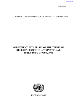 AGREEMENT ESTABLISHING THE TERMS OF REFERENCE OF THE INTERNATIONAL