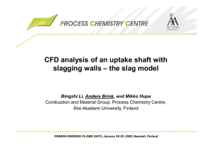 CFD analysis of an uptake shaft with