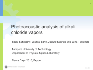 Photoacoustic analysis of alkali chloride vapors