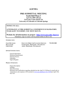 AGENDA  PRE-SUBMITTAL MEETING South Hall Phase I