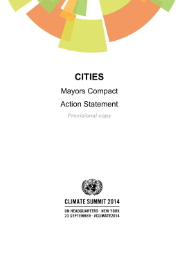 CITIES Mayors Compact Action Statement