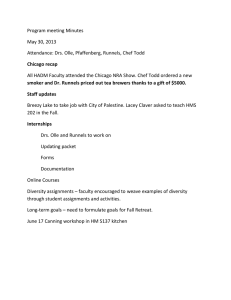 Program meeting Minutes May 30, 2013