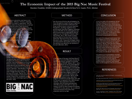 The Economic Impact of  the 2015 Big Nac Music... ABSTRACT CONCLUSION METHOD