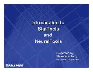 Introduction to StatTools and NeuralTools