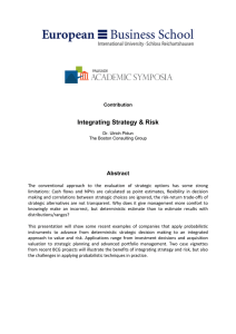 Integrating Strategy & Risk  Abstract