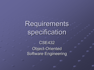 Requirements specification CSE432 Object-Oriented