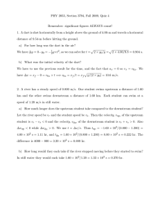 PHY 2053, Section 3794, Fall 2009, Quiz 4