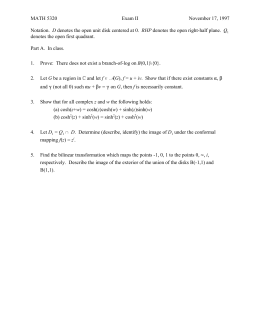 MATH 5320 Exam II November 17, 1997 D