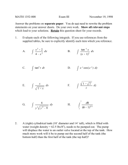 MATH 1352-008 Exam III November 19, 1998 separate paper